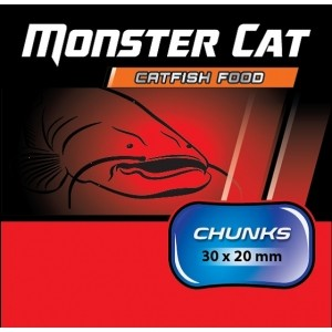 Chunks 30 x 20 mm /1kg Czarny Halibut- Monster Cat